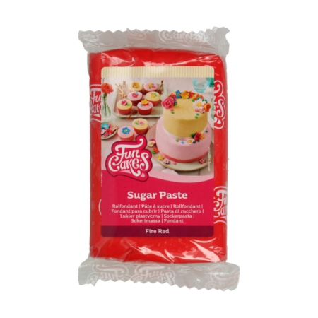 FunCakes Rolfondant Fire Red 250 g