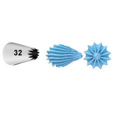 Wilton Decorating Tip #032 Open Star Carded