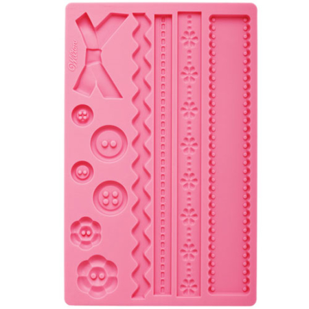400210 wilton fabric fondant and gum paste mold