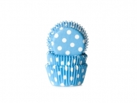601060 House of Marie baking cups mini polkadot blauw