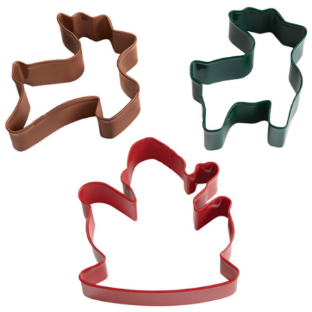 Wilton Cookie Cutter Santa and his Reindeer Set/3