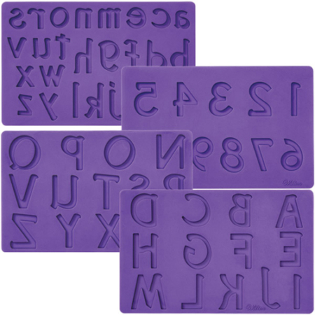 Wilton Letters Numbers Fondant & Gum Paste Mold set 4
