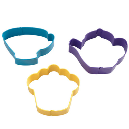 Wilton Tea Party Cookie Cutter Set/3