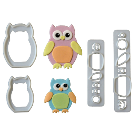 FMM Mummy & Baby Owl Cutter Set/4