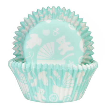 House of Marie Baking Cups Baby Mint pk/50