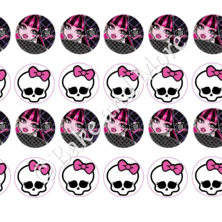 Eetbare print Monster High cupcakes