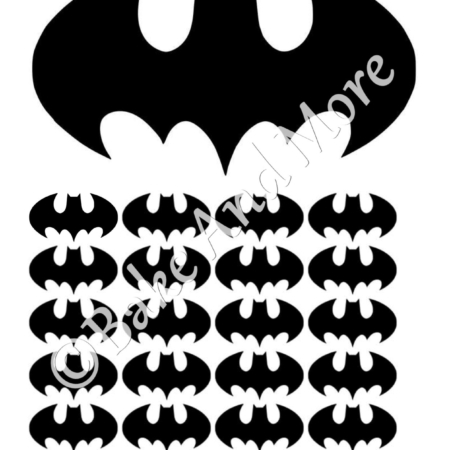 Batman Logo (frosty sheet)
