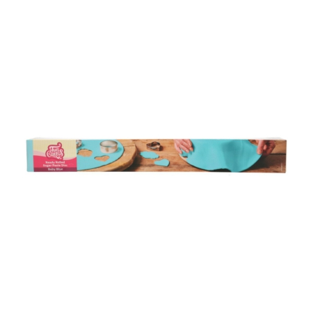 FunCakes Ready Rolled Fondant Disc Baby Blue