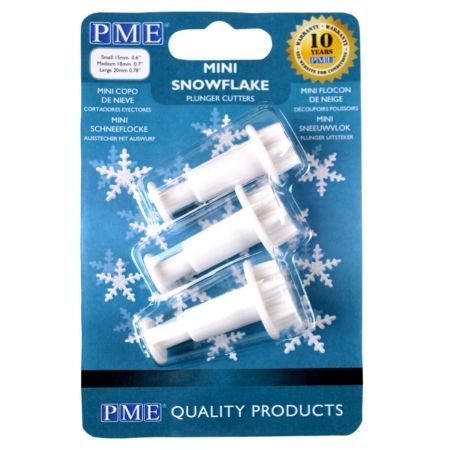 PME Mini Snowflake Plunger Cutter Set/3
