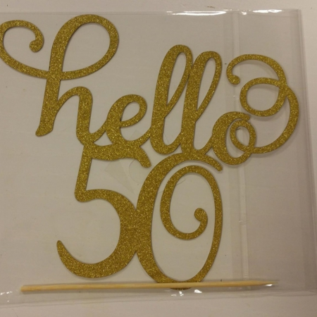 Taarttopper Hello 50