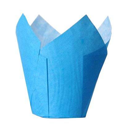 House of Marie Muffin Cups Tulp Blauw pk 36