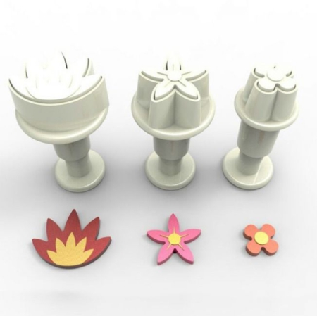Dekofee Mini Plungers Flower Mix set/3