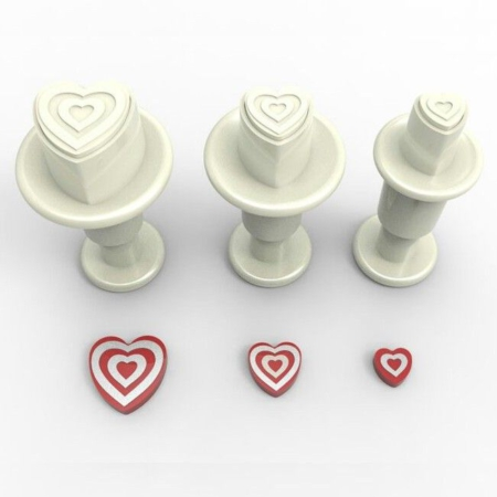 Dekofee Mini Plungers Hearts Striped Set set 3