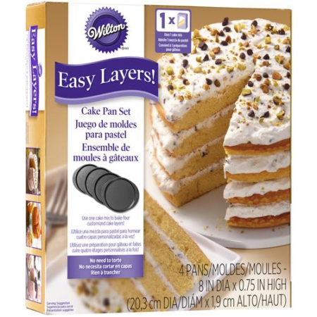 Wilton Cake Pan Easy Layers -20cm- Set/4