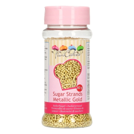 FunCakes Sugar Strands -Metallic Goud- 80g