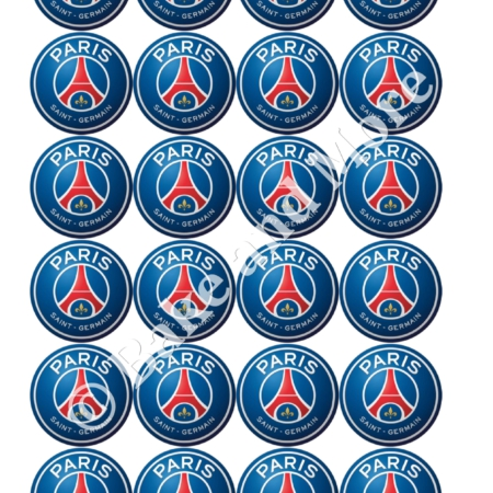 Paris Saint Germain cupcakes