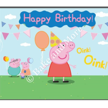Peppa Pig Happy Birthday