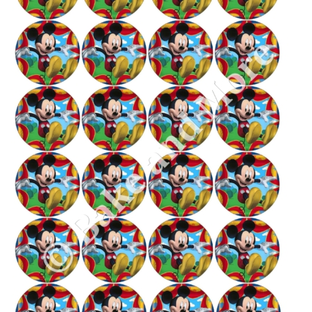 Mickey Mouse Rond 1 cupcakes