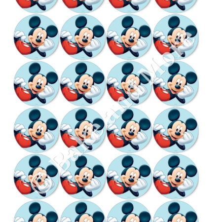 Mickey Mouse Rond 2 cupcakes