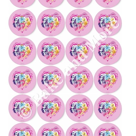 My Little Pony Rond 4 cupcakes