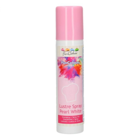 FunCakes FunColours Lustre Spray -Pearl White- 100ml