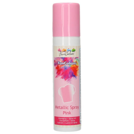 FunCakes FunColours Metallic Spray -Pink- 100ml