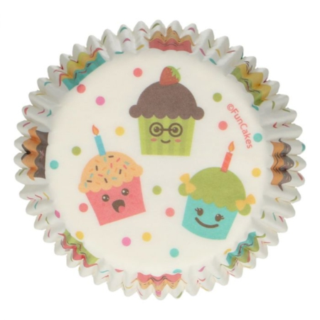 FunCakes Baking Cups -Cupcake Party- pk 48