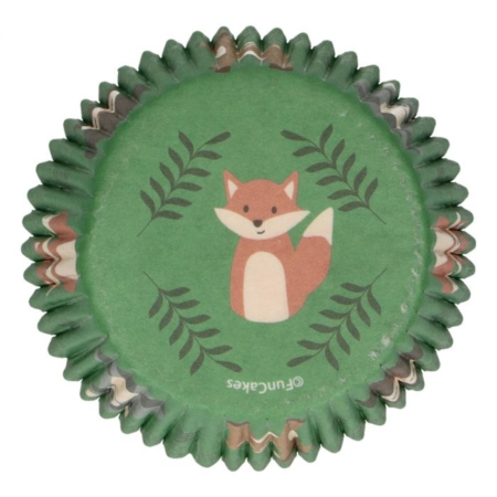 FunCakes Baking Cups -Forest Animals- pk/48