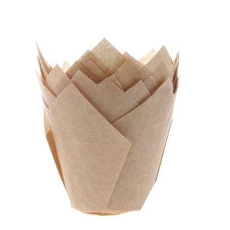 House of Marie Muffin Cups Tulp Kraft pk 36