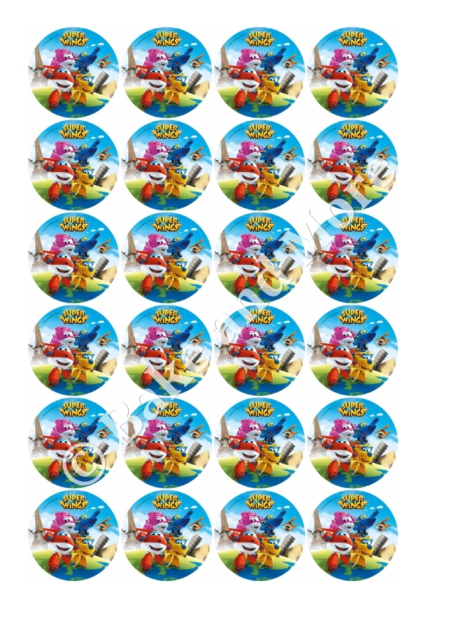 Superwings cupcakes