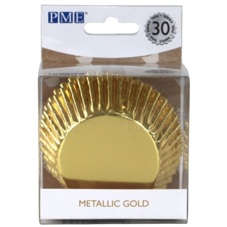 PME Baking Cups Metallic Gold pk/30