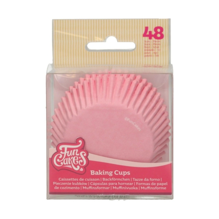 FunCakes Baking Cups -Light Pink- pk/48