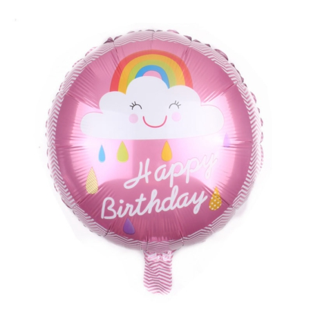 Happy Birthday Ballon Rainbow Pink