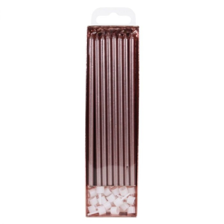 PME Extra Tall Candles Rose Gold 18cm pk 16