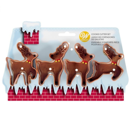 Wilton Cookie Cutter Reindeer Set/4