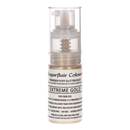 Sugarflair Pump Spray Glitter Dust -Extreme Gold-