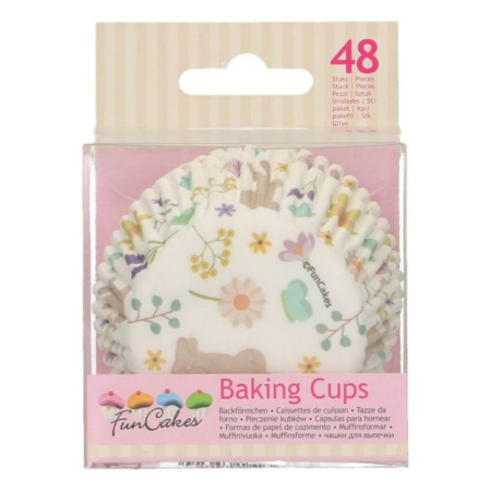 FunCakes Baking Cups -Spring Animals- pk/48
