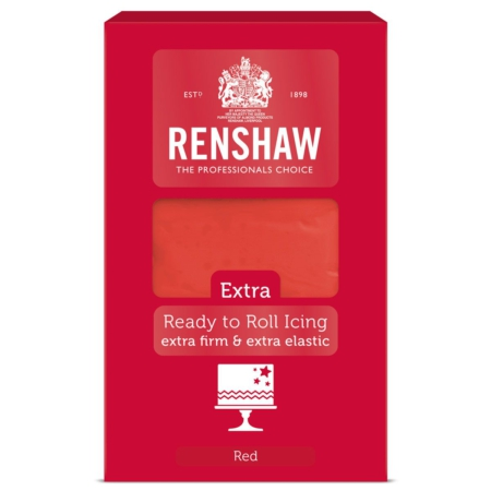 Renshaw Rolfondant Extra 1kg -Red-