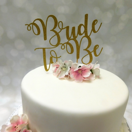 Cake Topper Bride To Be Goud