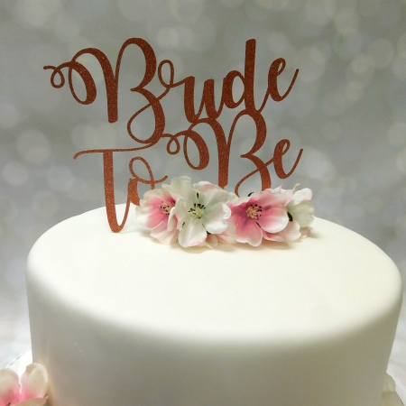 Cake Topper Bride To Be Rosé Goud