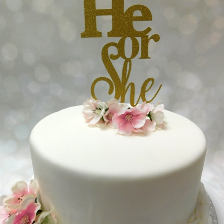 Cake Topper He or She Goud
