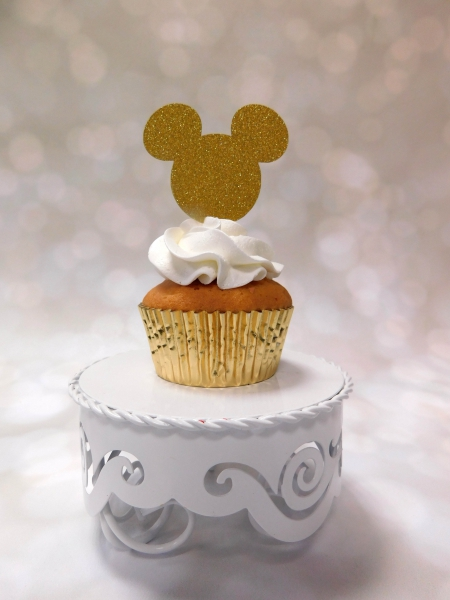 Cupcake Topper Mickey Goud
