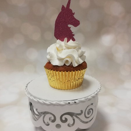 Cupcake Toppers Unicorn PInk