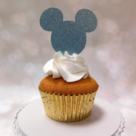 Cupcake Topper Light Blue 6st.