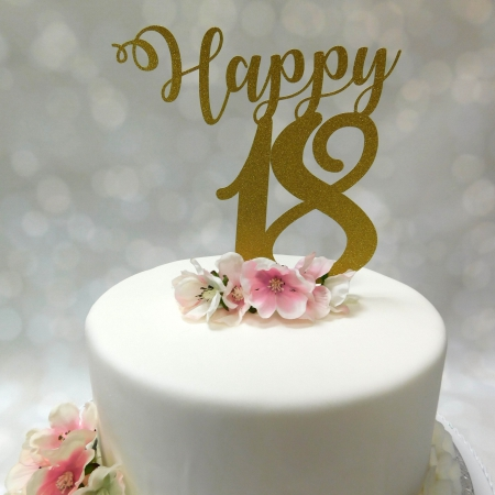 Cake Topper Happy 18