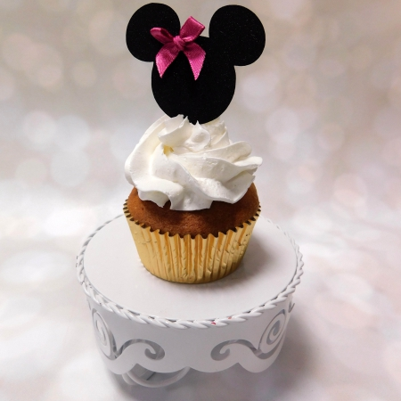 Cupcake Topper Minnie zwart