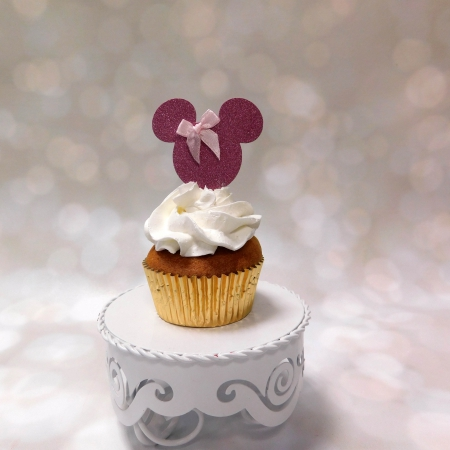 Cupcake topper Minnie Roze