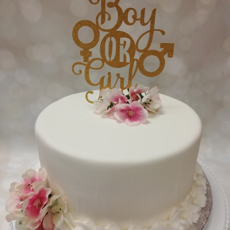 Caketopper Boy or Girl Goud