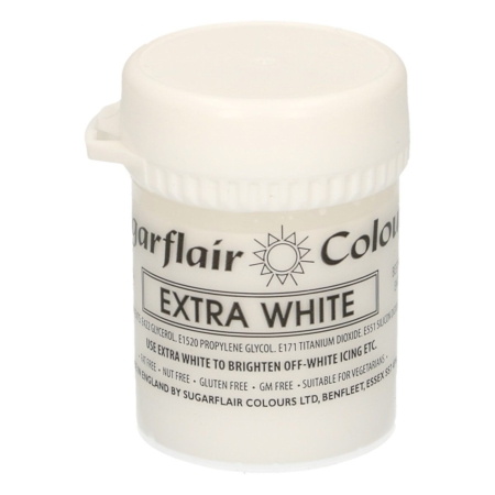 Sugarflair - Max Concentrate Paste Colour WHITE EXTRA 42g
