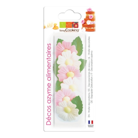 Scrapcooking Wafer Decoration Wild Rose & Leaf Set/12